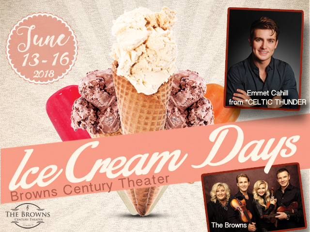 Ice Cream Days Shows w/Emmet Cahill